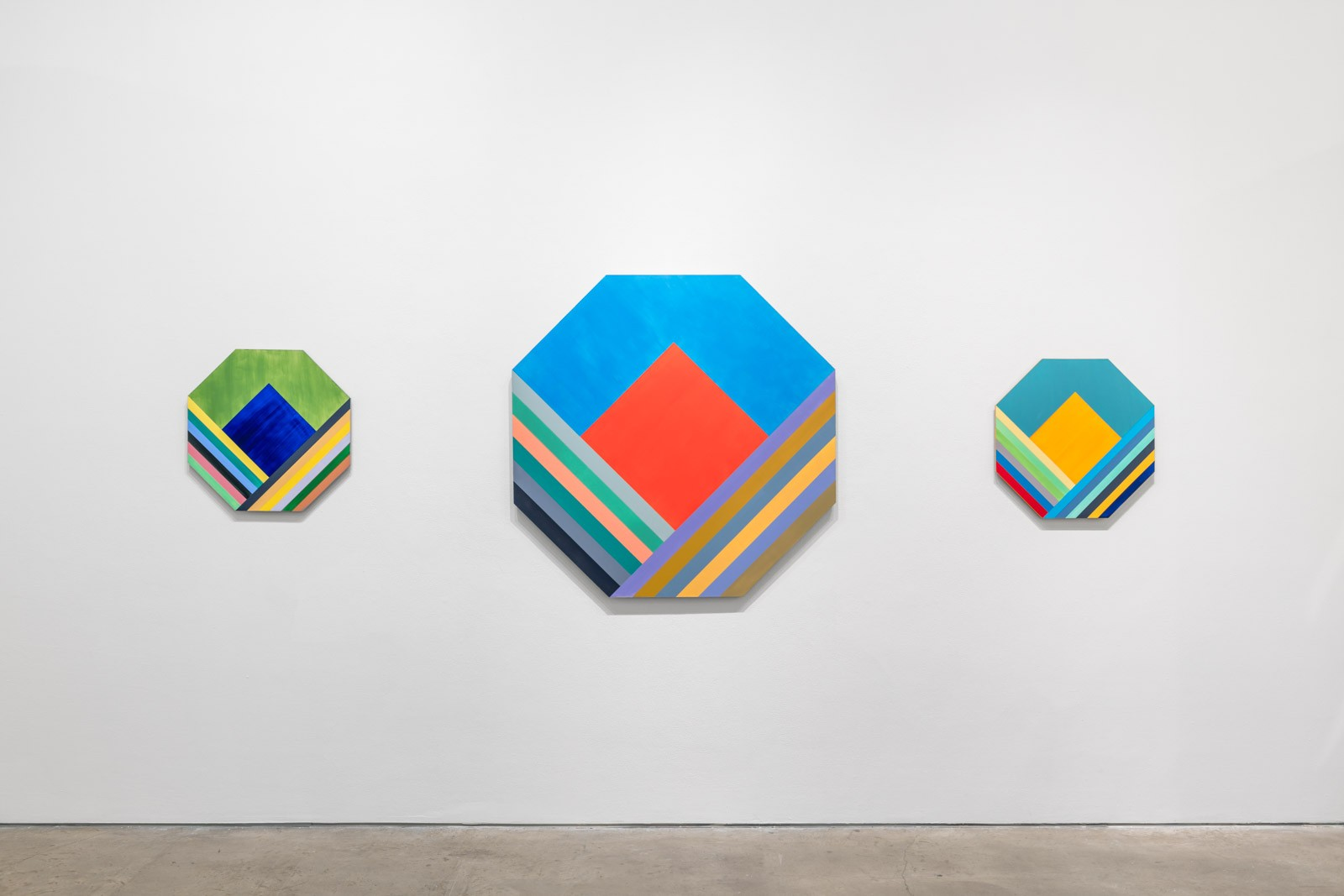 Installation view of 'ORRA' paintings