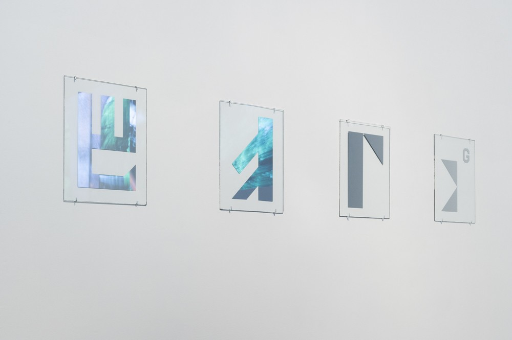 'Alphabet' Series, 2015. Mirrorized glass