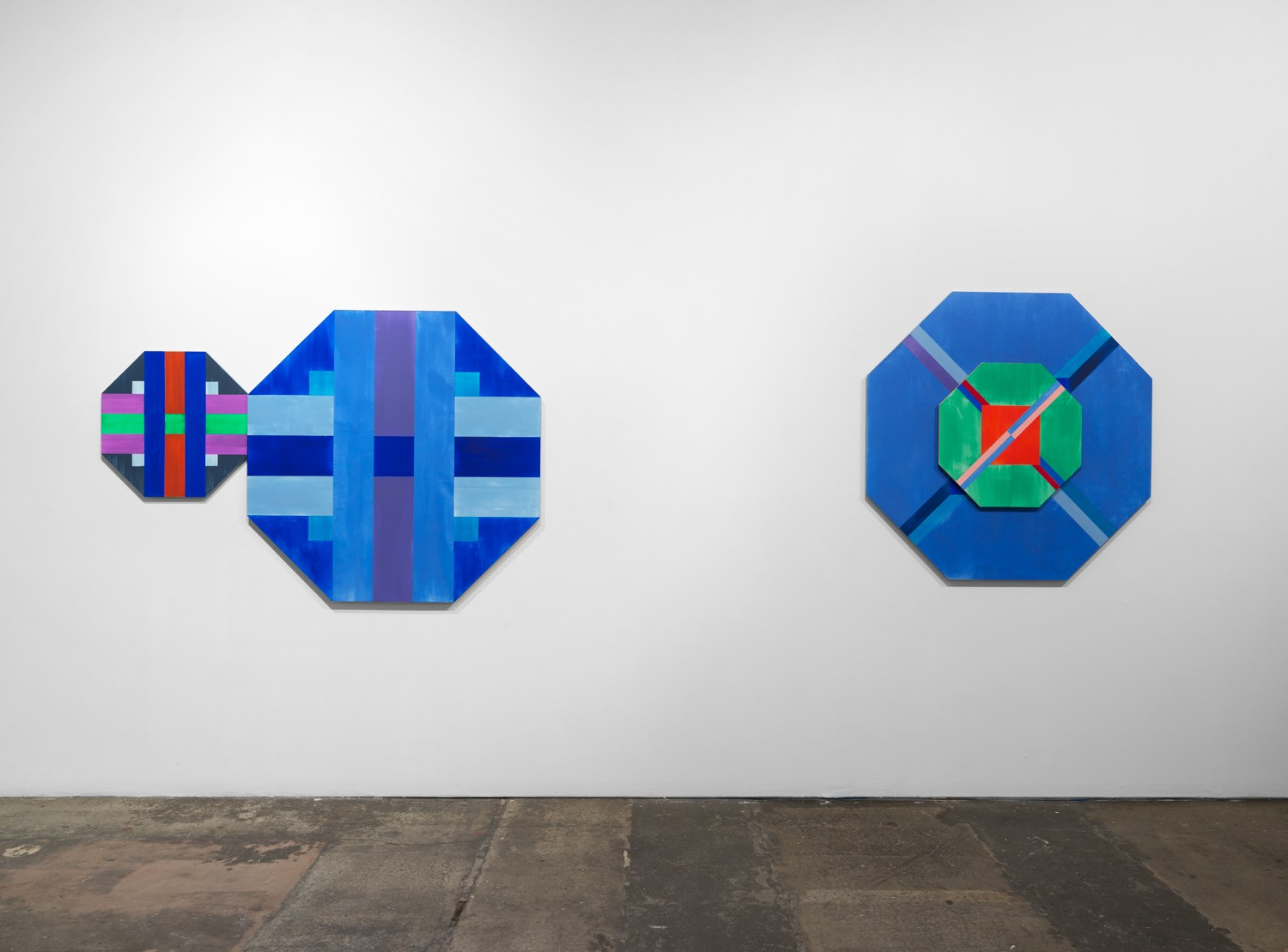 Installation view of ORRA paintings