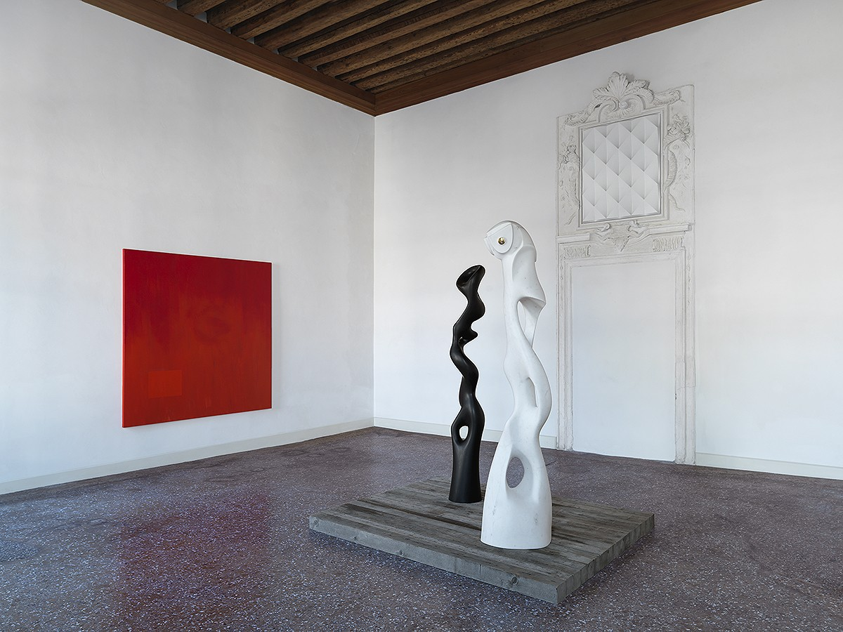 Installation view of the 'Topology Shift' reliefs in Venice