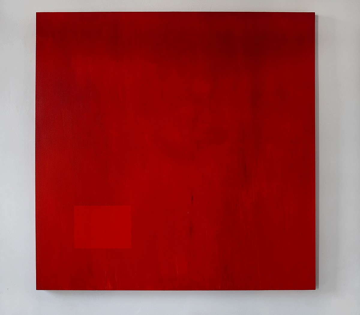 'Red Map I', 2011 Acrylic paint, mixed media on canvas 78.5 x 78.5 in.