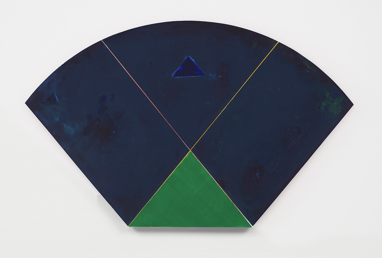 'VIEW_3A_08', 2019. Pigment and acrylic on wood. 25.5 × 36 inches.